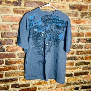 ♦️Men's Gray Graphic Tee Shirt Size Large